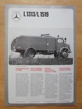 Mercedes Benz L1313 L1519 LF1113 1974 prospecto Folleto de vehículos de lucha contra el fuego