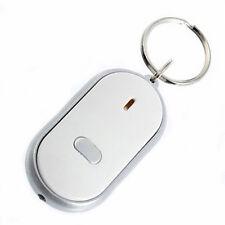 LED Key Finder Schlüsselanhänger Locator Sound Control Whistle 6*4CM Weiß Neu