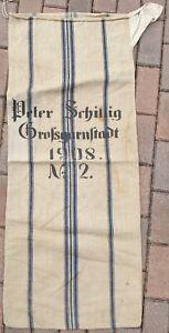 Alter antiker Getreide-/Mehlsack Großgarnstadt P. Schillig 1908 No.2