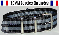 ★ 20MM ★ N°38 ★ Bracelet montre Watch Band Strap Nylon Military armée 007 Nato