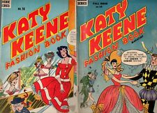 Katy Keene Fashion #14 & #16 Incomplete, but Nice Covers & Pages 1956 1 Archie
