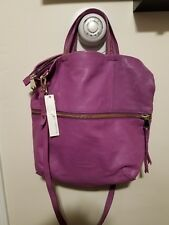 New Christopher. Kon Large Purple 100% Leather Shoulder Bag