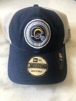New Era Los Angeles Rams Snapback Mesh Hat Cap Adjustable Nfl