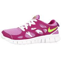new style c2269 c71ea Nike Free Run 2 Gs Chaussures de Course,Baskets Fuchsia Limette Blanc  477701-503