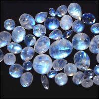Natural Rainbow Moonstone Mix Size & Shape Cabochon Loose Gemstone Wholesale Lot