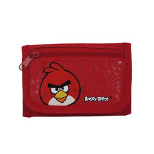 New Angry Birds Red Bird Trifold Black Wallet Cast Purse