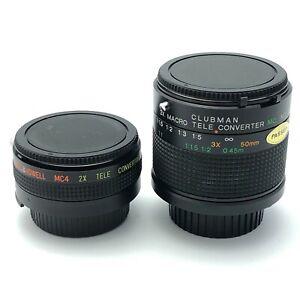 Bell & Howell 2x Convertor For Nikon & Clubman 3x Macro Tele Convertor 9055 CP