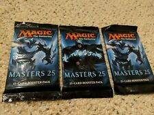 Magic Mtg Masters 25 Factory sealed Booster Pack X 3 !
