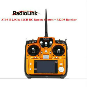 RadioLink AT10 II 2.4Ghz 12CH RC Remote Control + R12DS Receiver PRM-01
