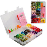 100/Set Colors Embroidery Thread Starter Kit Cross Stitch Craft Sewing Tools *