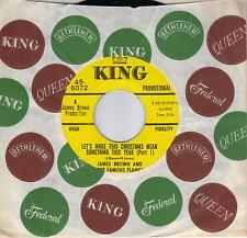 JAMES BROWN  Let's Make This Christmas Mean Something This Year  rare promo 45