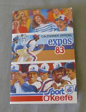 Original MLB Montreal Expos 1983 Official Baseball Schedule