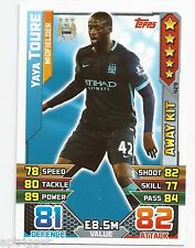 2015 / 2016 EPL Match Attax Away Kit (429) Yaya TOURE Manchester City