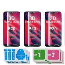 3x Huawei P20 Curved Glas 3D Schutzglas Echtglas Panzerglasfolie Displayschutz