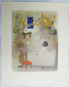 Planche illustrée par J. Ide—Ferme l'œil, le petit Elfe—Andersen—Années 50—#4