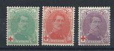 Belgique N°129/31** (MNH) 1914/15 - Croix rouge