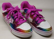 Heelys Motion Plus Youth Sz 6 Nwob Hot Pink Rainbow