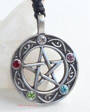 Pentacle of Life Pendant Necklace 5 beads Pentagram Druid Pagan Wicca Jewellery