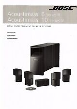BOSE Manuale di Istruzioni Owners Manual per Acoustimass 6 Series III/10 Ser. IV