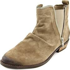Zip Suede Ankle Boots for Women