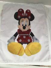 Walt Disney World Soft And Velvety MINNIE MOUSE Drawstring Bag Backpack  NWT