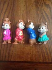 Alvin and the chipmunks .McDonald's 2010. Lot Of 4 figures.