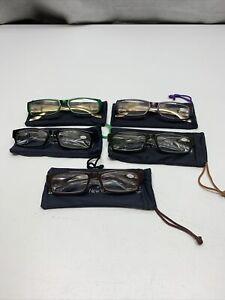 Lot Of 5 JM New York Eyeglasses  +3.50 NEW Joy Mangano Readers Cheaters KG