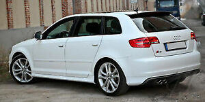 Side Skirts S3 look for Audi A3 8P (2005 - 2013) - Fits 5 Doors Sportback Model