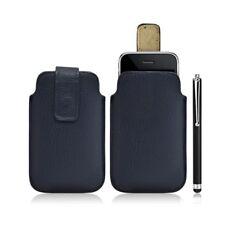 Housse coque étui pochette bleu pour Apple Iphone 3G/3GS + Stylet