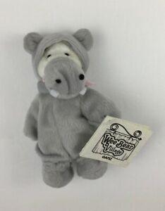 "GANZ Collectible Wee Bear Village Potamus Hippo Costume Plush 5"" Mini Teddy Bear"