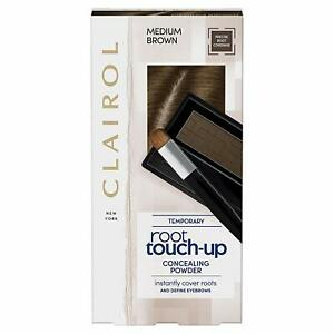 Clairol Root Touch Up Hair Dye, Temporary Roots and Eyebrow Powder, Medium Brown