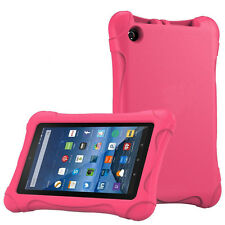"Kids Shock Proof Eva Handle Stand Cover Case for Amazon Kindle Fire HD 7"" 2015 Hot Pink"