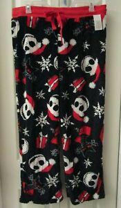 Santa Jack Skellington Nightmare Before Christmas Sleep Pajama Pants Plush XL