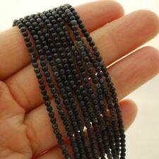 Grade A Natural Blue Tiger's Eye Semi-Precious Gemstone Round Beads - 2mm