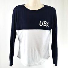 Est 1776 USA Women's Size Medium Light Summer Knit Jersey Patriotic T shirt