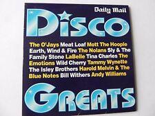 DISCO GTREATS PROMO CD O`JAYS MEAT LOAF MOTT THE HOOPLE E,W,FIRE NOLANS EMOTIONS