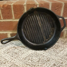 "Lodge USA 8GP 10.25"" Cast Iron Grill Pan Sits Flat No Wobble"
