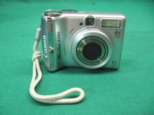 Canon PowerShot A550 7.1 MP Digital Camera Silver **Works Great**