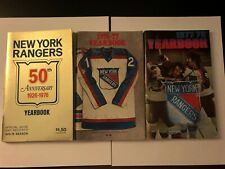 1975 76 NEW YORK RANGERS Official Yearbook PHIL ESPOSITO 50th Anniversary GOLDEN