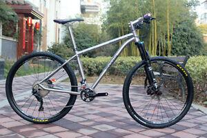 TiAtom/Titanium MTB Thru-axle Frame Bike Bicycle MTB Iner/External
