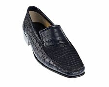 NIB $5K Stefano Ricci Genuine Crocodile Leather Shoes 8 / 9 Hand-made in Italy