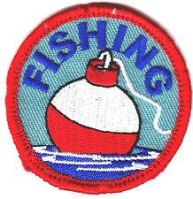 """FISHING""  BOBBER - IRON ON EMBROIDERED PATCH - SPORTS - FISH - FISHERMAN"