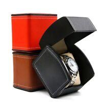 Watch Jewelry Display Storage Holder Case Organizer PU Leather Watch Box Gift US