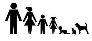 2 x Family hund Katze Aufkleber jdm tuning Decal Sticker Decals 20 cm