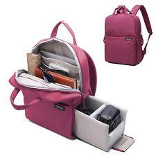 Women's Camera Backpack  DSLR SLR Camera Bag Travel Outdoor Waterproof Ta... New