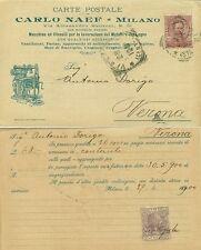G542-MILANO, CARLO NAEF-MACCHINE E UTENSILI LAVORAZ. METALLI E LEGNO, 1900