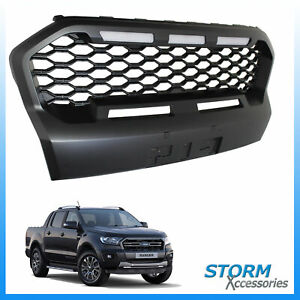 REPLACEMENT GRILL -LEDS IN BLACK MESH STYLE FOR FORD RANGER T6 2019 ON WILDTRAK