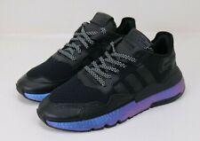 Adidas Nite Jogger Men's Size 9.5- Metallic Blue Boost- Shoes FV3615
