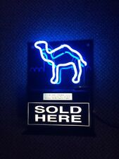 Vintage Camel cigarettes lighted neon blue display sign 2001 Fallon made Usa