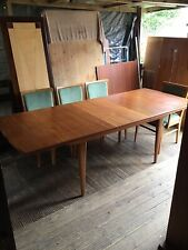More details for mid century dining table and chairs